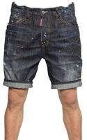 DSquared2 Big Deans Bro Black Shadow Denim Shorts - Lyst