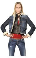 DSquared2 Stretch Denim Jacket with Leather Vest - Lyst