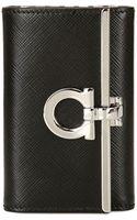 Ferragamo Gancini Icon Saffiano Leather Key Holder - Lyst