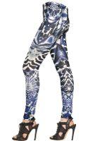 McQ by Alexander McQueen Kaleidoscope Print Lycra Jersey Leggings - Lyst