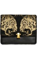 Roberto Cavalli Hera Leopard Print Leather Shoulder Bag - Lyst