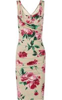 Dolce & Gabbana Floralprint Stretchsilk Dress - Lyst