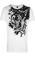 McQ by Alexander McQueen Painterly Effect Print Tshirt - Lyst