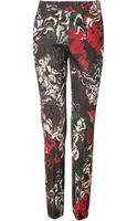 Cedric Charlier Wool Blend Printed Pants - Lyst