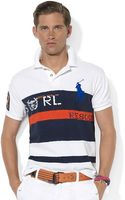 Polo Ralph Lauren Custom-fit Shortsleeved Big Pony Rescue Striped Polo - Lyst