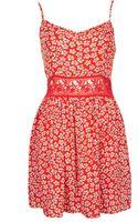 Topshop Daisy Crochet Waist Dress - Lyst