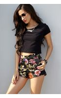 Forever 21 Tropical Print Woven Shorts - Lyst