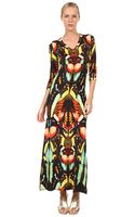 Jean Paul Gaultier Butterfly Long Sleeve Vneck Dress - Lyst