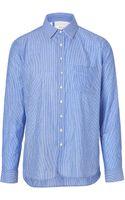 Rag & Bone Cottonlinen Placket Shirt   - Lyst