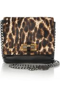 Lanvin The Happy Mini Pop Calf Hair and Leather Shoulder Bag - Lyst