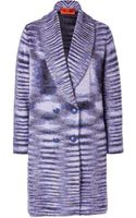 Missoni Mohair-wool Blend Double Breasted Cardigan Coat - Lyst