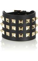 Valentino Rockstud Leather Bracelet - Lyst