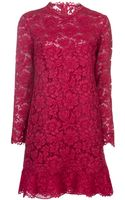 Valentino Ruffled Lace Dress - Lyst