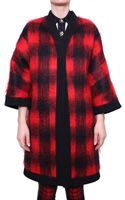 Fausto Puglisi Mohair-wool Blend Check Coat - Lyst