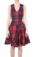 McQ by Alexander McQueen Dress Check Wool Tartan - Lyst