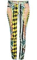 Balmain Pattern Print Skinny Jeans - Lyst