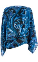 Emilio Pucci Printed Asymmetric Blouse - Lyst