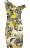 Lela Rose Asymmetric Floraljacquard Dress - Lyst
