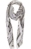 Topshop Safety Pin Print Scarf - Lyst