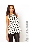 Asos Maternity Maternity Blouse in Large Spot with Drape Bow Back - Lyst