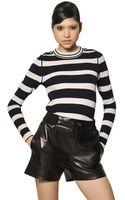 Chloé Striped Wool Knit Sweater - Lyst