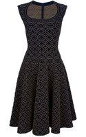 Alaïa Flared Sleeveless Dress - Lyst