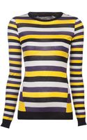 Jason Wu Striped Pullover - Lyst