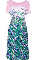 Marc Jacobs Floral Print Dress - Lyst