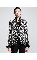 Alexander McQueen Printed Onebutton Jacket - Lyst