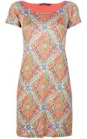 Ralph Lauren Blue Label Paisley Print Dress - Lyst