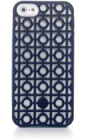 Tory Burch Kelsey Perforated Phone Case For Iphone 5 - Lyst