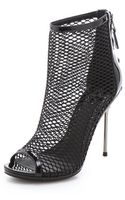 B Brian Atwood Michelet Mesh Booties - Lyst