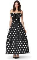 Oscar de la Renta Off The Shoulder Allover Polka Dot Bead Embroidered Gown - Lyst