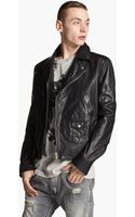 Pierre Balmain Leather Moto Jacket - Lyst