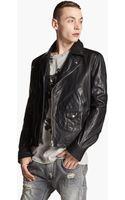 Pierre Balmain Leather Moto Jacket - Lyst