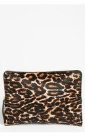 Lanvin Oversize Leopard Print Calf Hair Clutch - Lyst