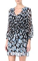 Diane Von Furstenberg Printed Silk Dress - Lyst