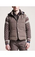 Brunello Cucinelli Hooded Vest - Lyst
