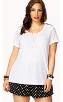Forever 21 Spiked Tee - Lyst