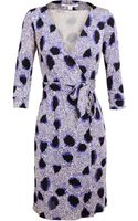 Diane Von Furstenberg New Julian Two Printed Silk Wrap Dress - Lyst