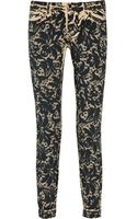 Dolce & Gabbana Lace-print Straight-leg Jeans - Lyst