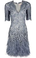 Matthew Williamson Mirror Lace Shift Dress - Lyst