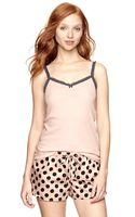 Gap Flutter Lace Ribbed Cami - Lyst