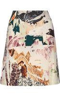 Carven Printed Woolblend Aline Skirt - Lyst
