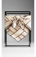 Burberry Heritage Buckle Silk Square Scarf - Lyst