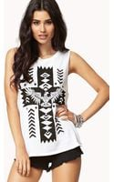 Forever 21 Tribal Cross Muscle Tee - Lyst