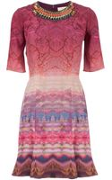 Matthew Williamson Forest Print Embellished Dress - Lyst