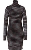 Missoni Variegated Knit Turtleneck Dress - Lyst