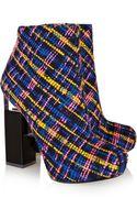Nicholas Kirkwood Erdem Tweed and Perspex Ankle Boots - Lyst