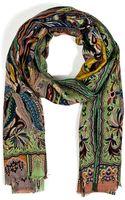 Etro Woolsilk Paisley Print Scarf - Lyst